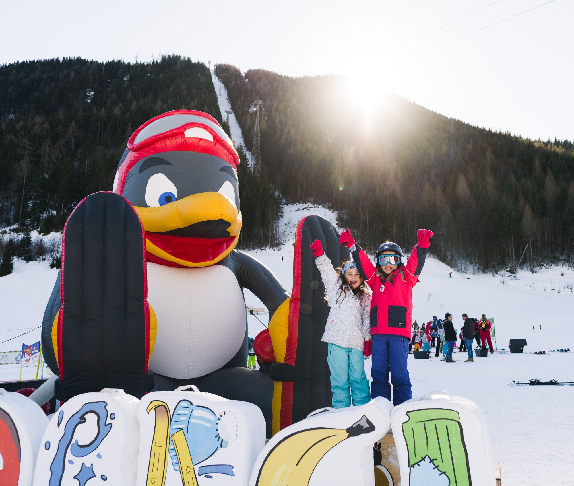 Pinguin BOBO's KINDER-CLUB© | Skifahren lernen mit BOBO dem Pinguin